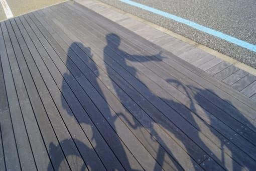 自転車で2人乗り
