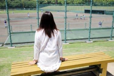 野球の大会を観戦