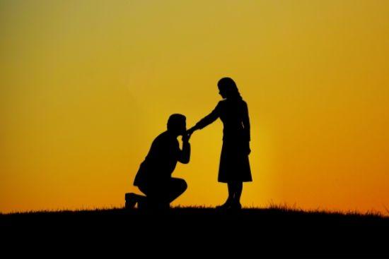 プロポーズする
